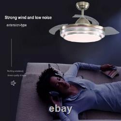 Ventilateur De Plafond Led Silencieux De 42 Pouces Avec Lumières Changeantes De 3 Couleurs À Distance Contrôlée Royaume-uni