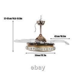 Ventilateur De Plafond Silencieux Led Lumière 3-couleur Changement De Style Moderne Lampe Télécommande