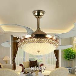 Ventilateur Moderne De Plafond Led De 42 Pouces Avec Lumières Changeantes 3 Couleurs Et Télécommande