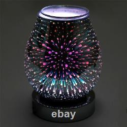 Verre 7 Led Colour Changing Led Aroma Diffuseur Électrique Wax Melt Oil Burner
