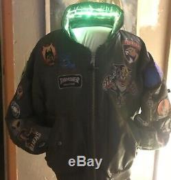 Veste Cyberpunk 2077 Ma-1 Avec Collier De Couleurs Changeantes