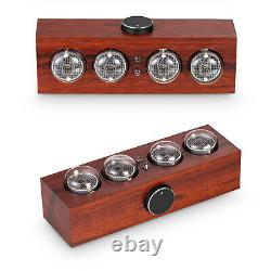 Vintage Mini In-4 Nixie Glow Tube Horloge Numérique En Bois Bureau Réveil Cadeau