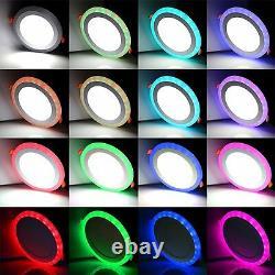 White Rgb Double Couleur Led Lumière Led Plafond Panneau Encastré Lampe De Lumière De Fond