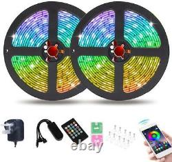 Wigbow 39.4 Ft/ 12m Bluetooth Led Chasing Light Avec App, Dream Color Changing R