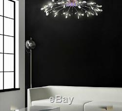 XXL Lampe Led De Plafond De Cristal Rc + Changement De Couleur De La Lumière 90cm Lustre 12 Bras